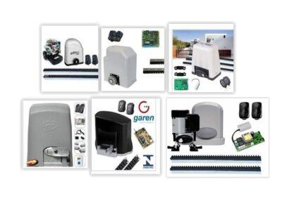 Câmeras de vigilância, sistema de alarme e cerca elétrica.
